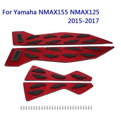 Aluminum Motorcycle Foot Pegs Footrest Step Pad For Yamaha NMAX155 NMAX125 15-17