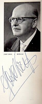 1961 SIGNED Program IPO 25th Anniversary HUBERMAN - TOSCANINI Autograph KRIPS