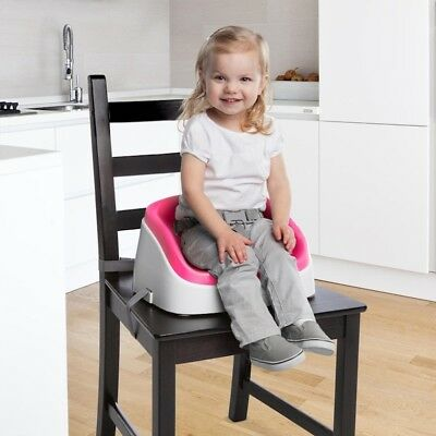 Ingenuity SmartClean Magenta Kids Toddler Portable Seat Booster High Chair 16m+