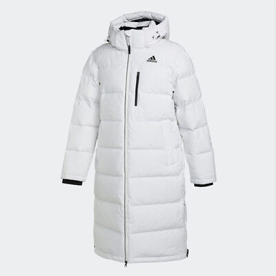 Adidas Mens LONG BENCH DUCK DOWN JACKET WHITE CK0979 PARKA PUFFER S - 3XL TAKSE