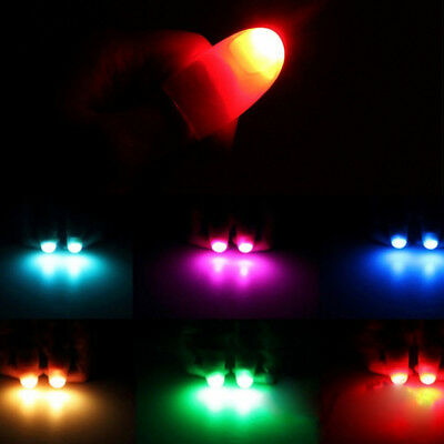 2PCS Magic Finger Lights Super Bright Thumbs Fingers Trick Appearing Light Close