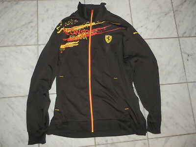 Ferrari Scuderia Puma Espana Spain Racing Alonso Mens 2Xl Xxl Black Track Jacket