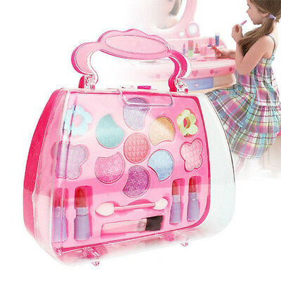 Princess Little Girl Makeup Set Pretend Play Kit Eco-friendly Toy Gift