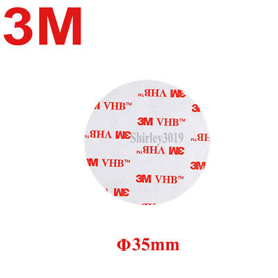 3M VHB 4910 Clear Double Sided Tape 35mm Circle 1mm Thick Acrylic Foam Adhesive