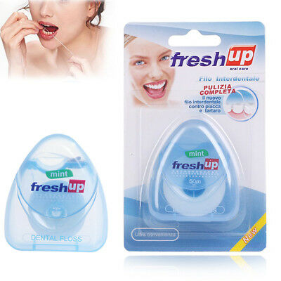 50m Dental Floss Waxed Mint Flavor Oral Care Pick Tooth Cleaner Hygiene Portable