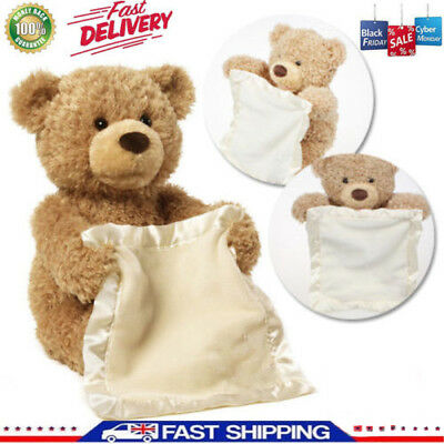 Christmas Peek A Boo Teddy Bear Toddler Kids Children Child Play Soft Toy Plush