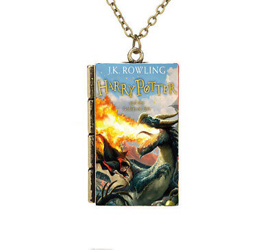 Miniature Harry Potter and the Goblet of Fire TINY Book Pendant Necklace