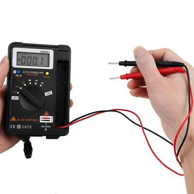 AN8203 Mini LCD Digital Multimeter Auto Range Capacitance Ohm AC/DC Volt Tester.