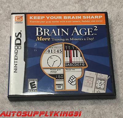 BRAIN AGE 2: MORE TRAINING IN MINUTES A DAY (Nintendo DS, 2007) CIB Mint Tested
