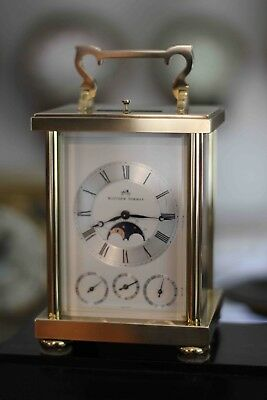 Mathew Norman Vintage Swiss 8 Day Calendar Moonphase Repeater Carriage Clock