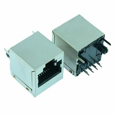 RJ45 Socket with Shield 8 Pin Network Ethernet Connector