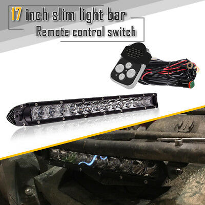 17in Single Row LED Light Bar 80W Combo Offroad Bumper Light For Honda Boat Fork