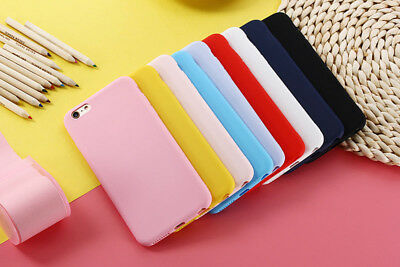 Ultra thin Simple Candy Color Silicon Phone Case For iPhone XS Max XR 5S 6 7 8 X