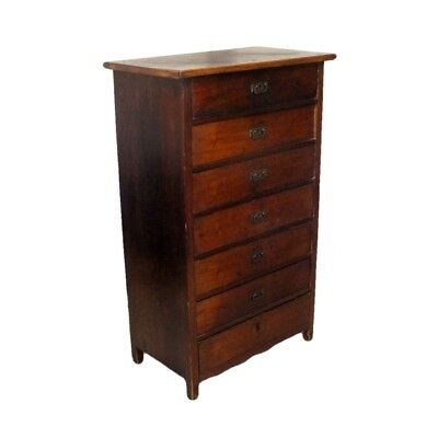 Antique Mahogany Tall and Narrow Chest of Drawers