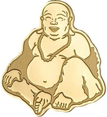 Palau $1 GOLDEN LAUGHING BUDDHA Gold Coin.
