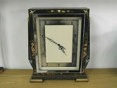 Beautiful Art Deco Chinoiserie Mantle Clock