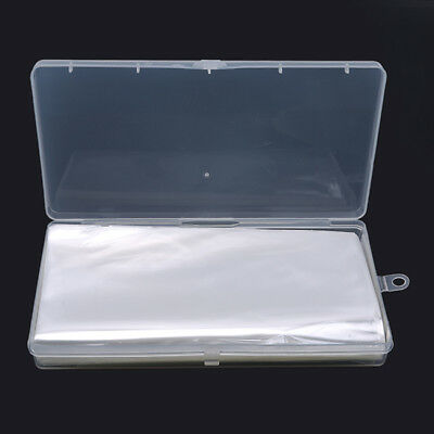 100pcs Transparent Plastic Banknote Sleeves Money Stamps Cover With Box Z
