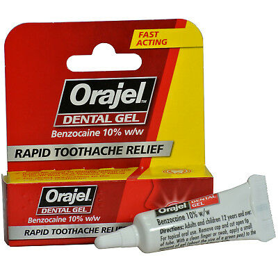 Orajel Dental Gel Rapid Toothache Relief Benzocaine 10% w/w