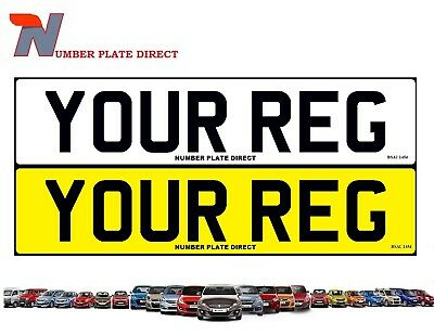 PAIR of Number Plates Car Van Trailer Reg MOT Compliant UK Road Legal FREE POST