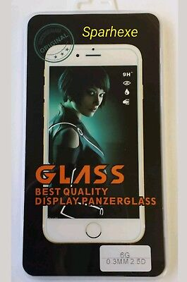 8x Tempered Glass für iPhone 6 / 6S Panzerfolie Schutzglas Display Glas Folie 9H