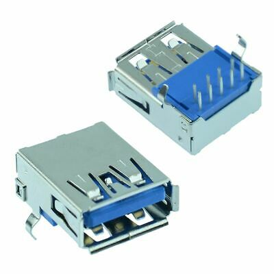 2 x USB 3.0 Type A Right Angle Female Socket PCB Connector