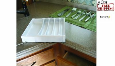 Adjustable CUTLERY Expandable Drawer Tray Organizer Bamboo Kitchen Utensil RV