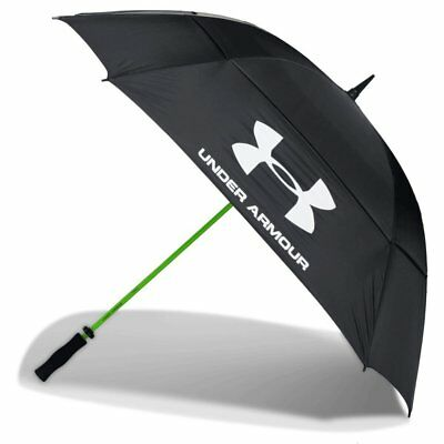 "Under Armour 68"" Double Canopy Windproof Golf Umbrella - Black"
