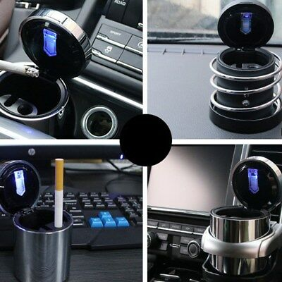 Portable Car Truck LED Cigarette Smoke Ashtray Ash Cylinder Cup Holder Newest AU