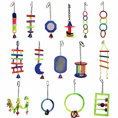 Avi One Acrylic Bird & Parrot Toys Rings Mirrors Chains Bells Ladders Frames