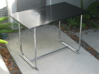 vintage steel Table Howell chrome machine age deco Wolfgang Hoffmann 1930's 40's