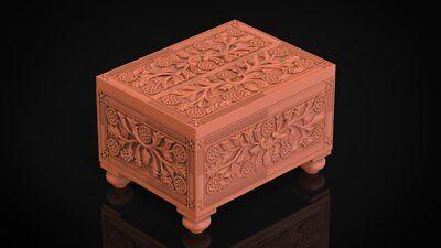 CNC 3d Relief Model STL for Router 3 axis Engraver #box2