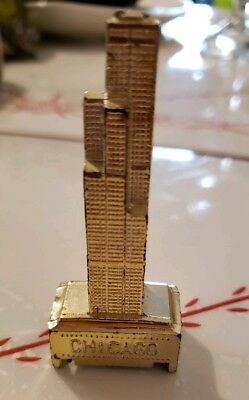 Vtg Chicago Sears Tower Building Souvenir Statue Pencil Sharpener Made in Japan