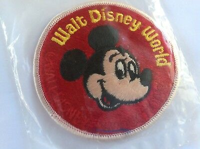 """Vintage WALT DISNEY WORLD MICKEY MOUSE Character Patch 3"""" Embroidered NOS NEW"""