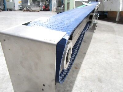 Electric Power Slider Bed Belted Conveyor Dim L82IN X W5 X  H17 ( Usted Tested)