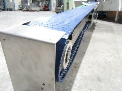Electric Power Slider Bed Belted Conveyor Dim L82INX W5X H17 ( Usted Tested)