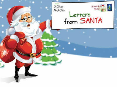 Create Design Personalised Letters From Santa Claus Xmas Template Kit Children