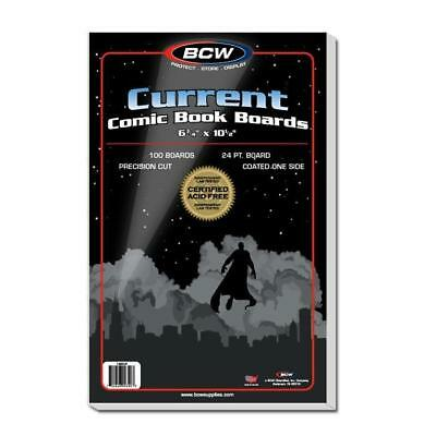 200 BCW CURRENT THICK Comic Bags and 200 Backing Boards