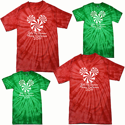 Matching Christmas Shirts For Family.Walt Disney World Family Vacation 2019 Matching Tie Dye T Shirts Christmas Tee