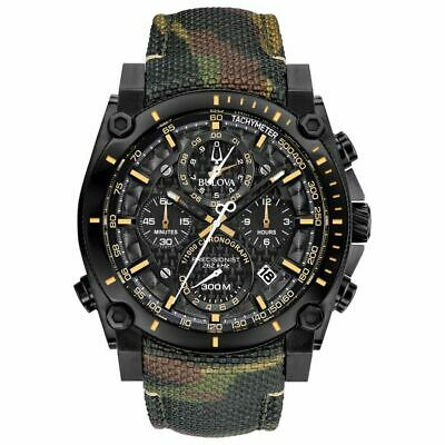 Bulova Men's Precisionist Chronograph Champlain Camouflage Strap Watch 98B332
