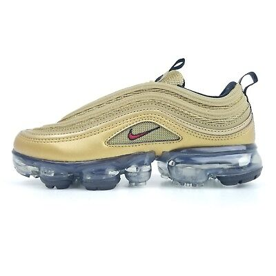 timeless design 4bcd5 7c56a NIKE Air Vapormax 97 (GS) Metallic Gold Bullet Youth Sizes 3.5Y,