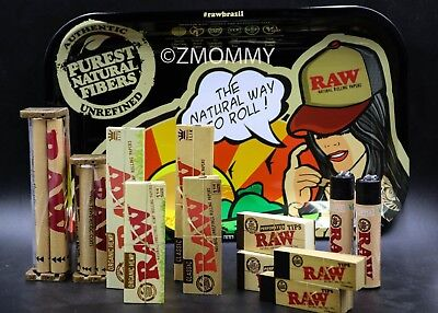 Bundle - 13 Items - BRAZIL RAW Rolling Paper R.y.o (Roll Your Own) Cigarette Kit