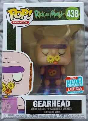 Funko Pop Rick & Morty Gearhead #438 NYCC 2018 Fall Convention Exclusive Vinyl