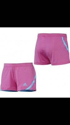 Adidas Tennis Girls Pink And Blue Barricade Shorts Age 8 RRP £24.99