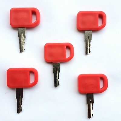 (5) John Deere Ignition Keys for Heavy Equipment & Tractors AT195302 Ships Free