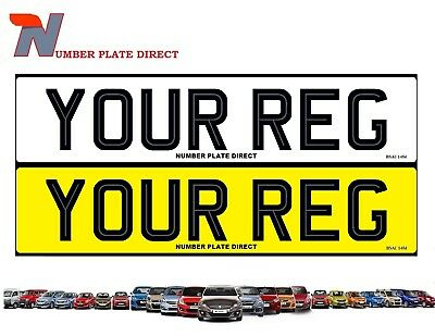 PAIR of PREMIUM Quality Number Plates Hi-Line MOT Compliant & Legal Registration