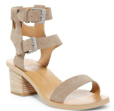 071f9664e1c3 NIB Dolce Vita West Women s Dual Ankle Strap Sandal Heels Taupe Suede Size  8.5