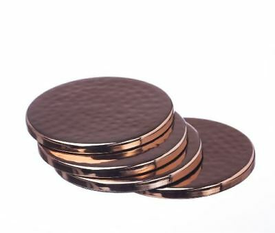 The Just Slate Company Copper or Gold Coasters (set of 4)