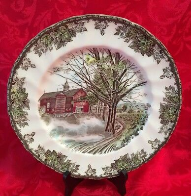 Vintage Johnson Brothers Friendly Village 10 inch Dinner Plates England