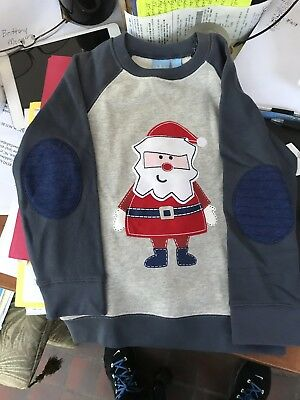 NWT Boys J Khaki Size 4T Christmas SweatShirt with Elbow pads Must S@@