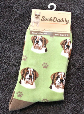 Saint Bernard Dog Breed Lightweight Stretch Cotton Adult Socks